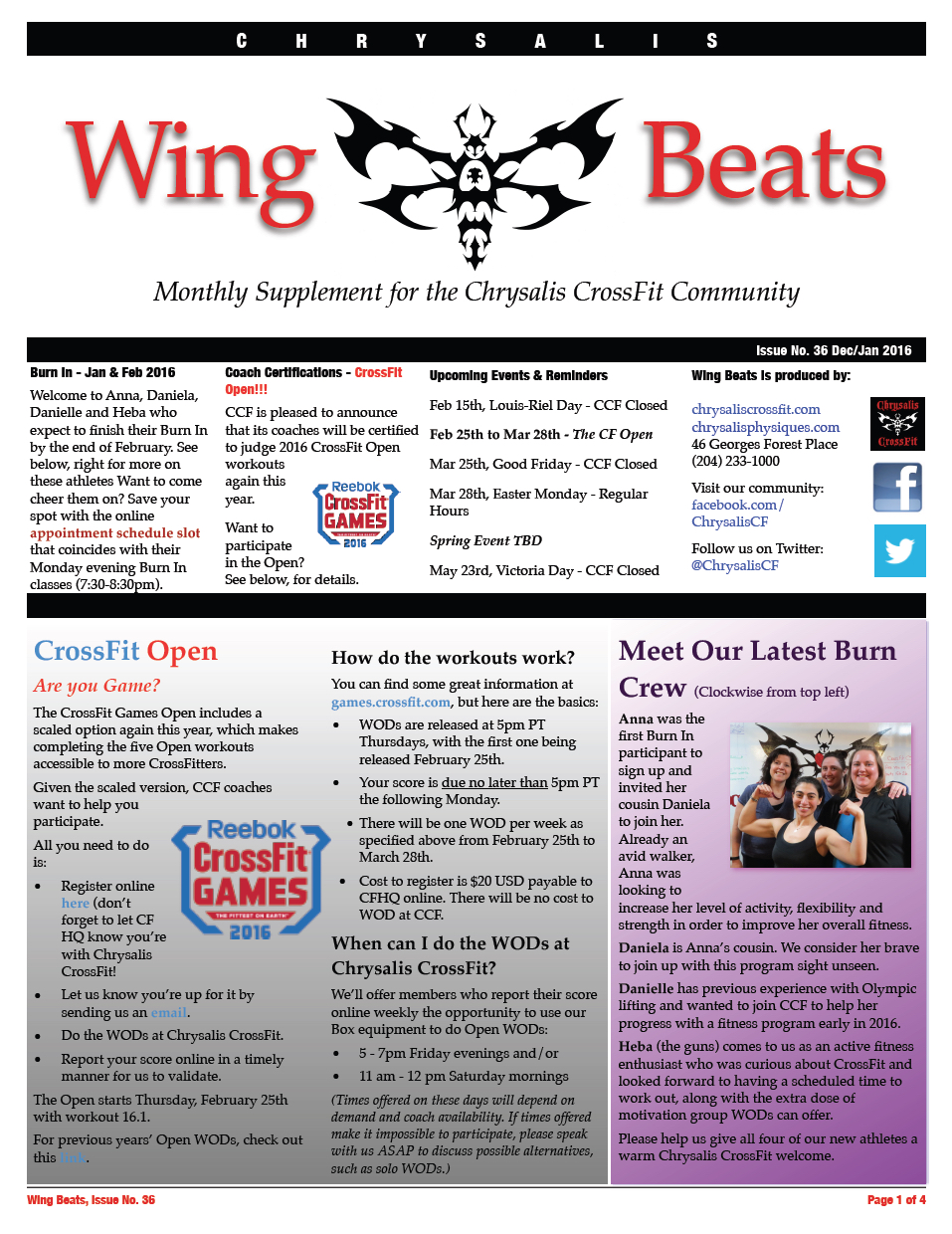 WingBeats Issue #36 - DecJan 2016