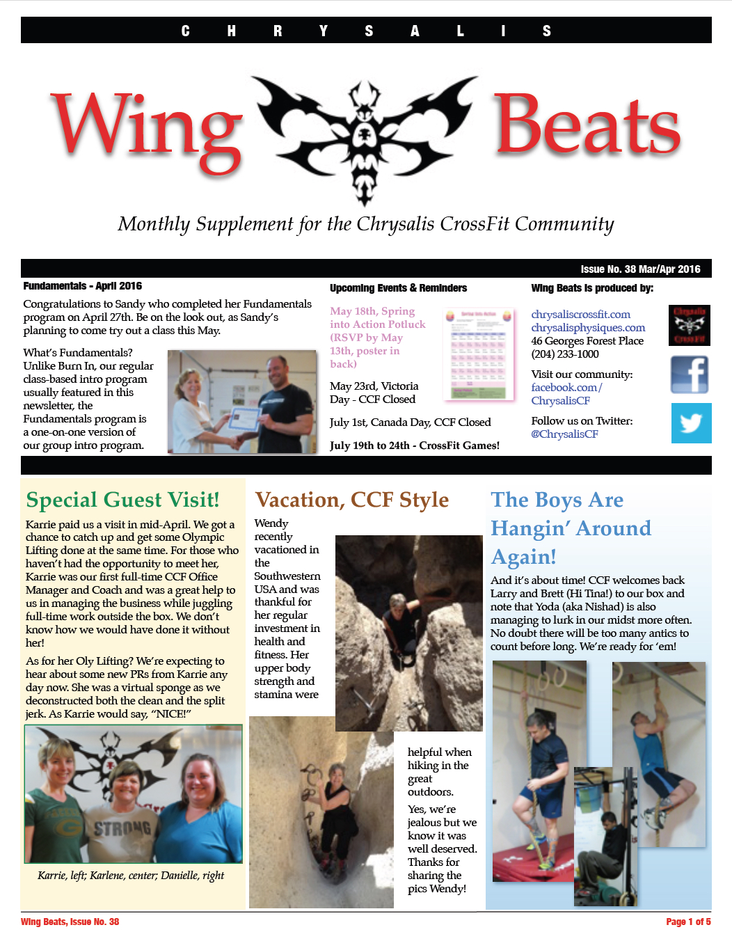 WingBeats Issue #38 - MarApr 2016