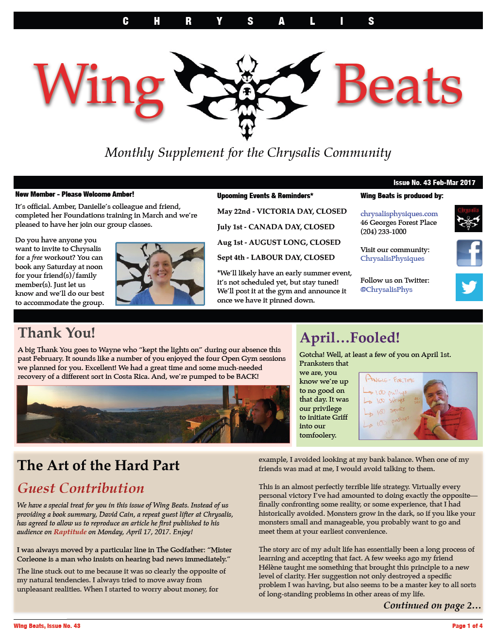 WingBeats Issue #43 - FebMar 2017