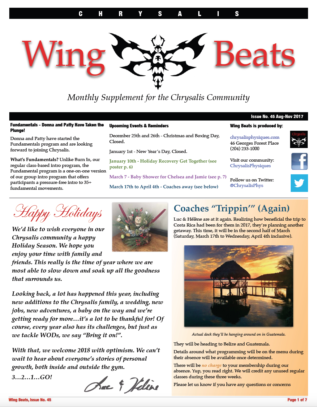 WingBeats Issue #45 - AugNov 2017