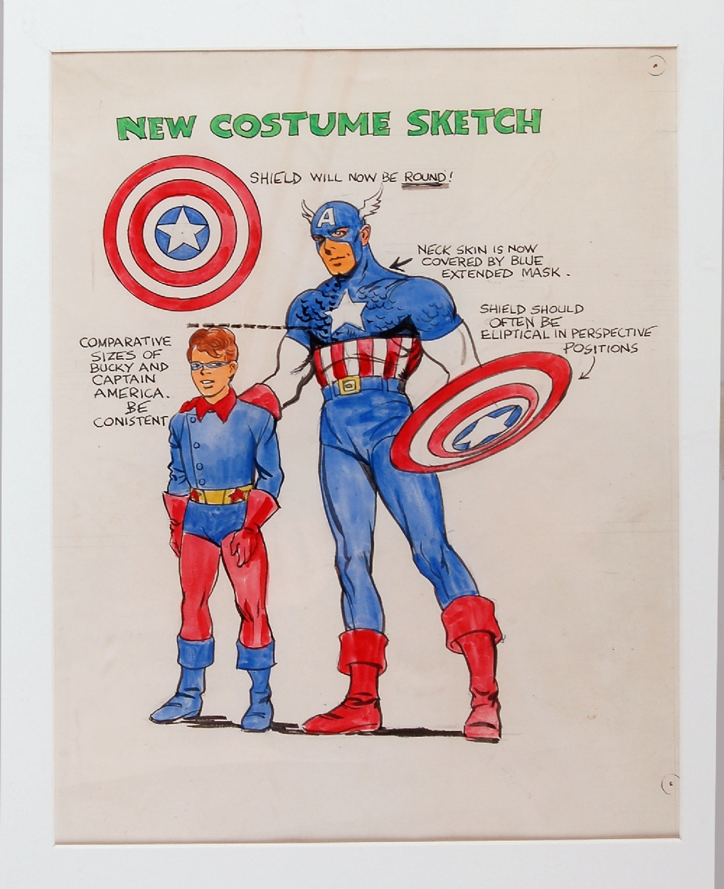 Joe Simon Captain America Sketch