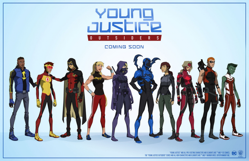 Teenage superheroes strive to prove themselves as members of the Justice League.