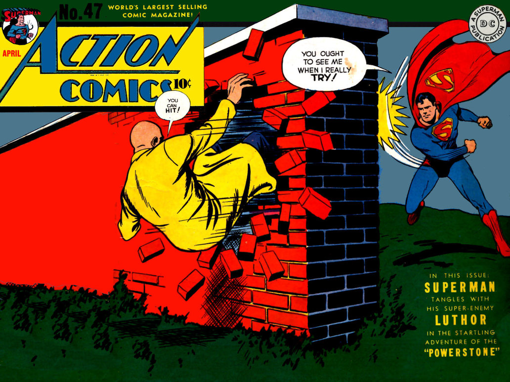 Oddio Comic #14 - In our new Oddio Comic for Action Comics #47, Lex Luthor becomes juiced using electricity, but the greedy bugger wants to become even more powerful, and tries to coerce Superman to obtain an even greater weapon: The Powerstone!