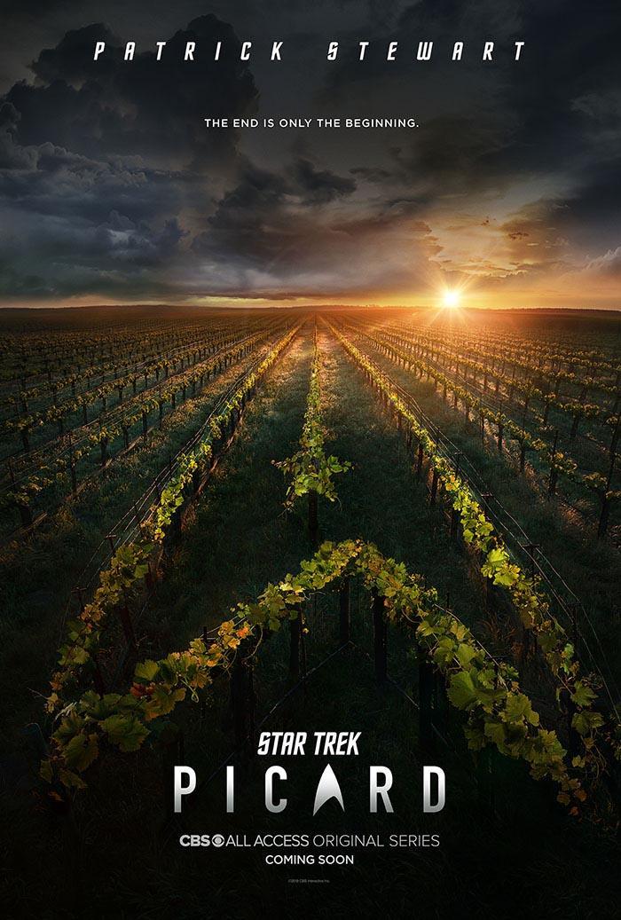 Poster for  Star Trek: Picard  revealed at StarTrek.com today.
