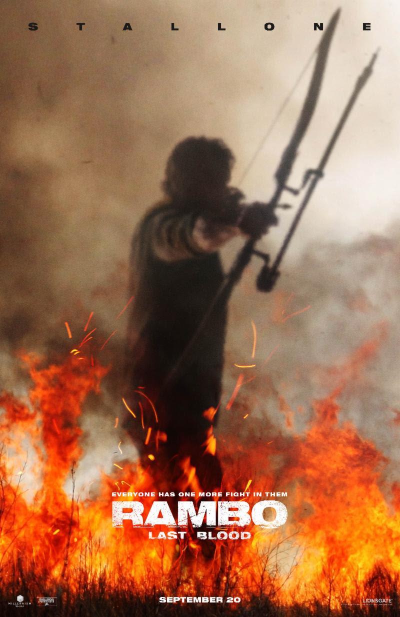 Rambo Last Blood Key Art Movie Art Poster Rambo Stallone