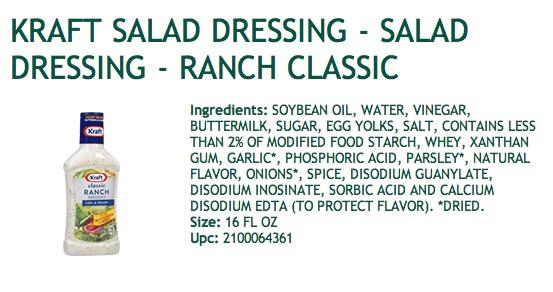 Ranch dressing