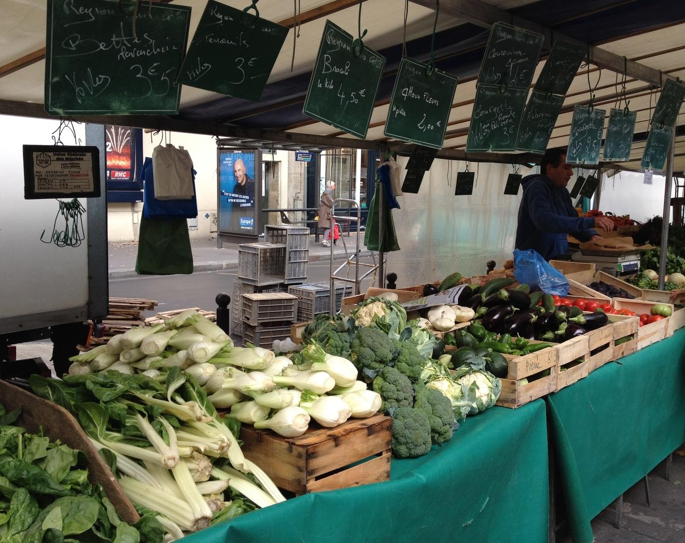 Veggies at the market in Paris