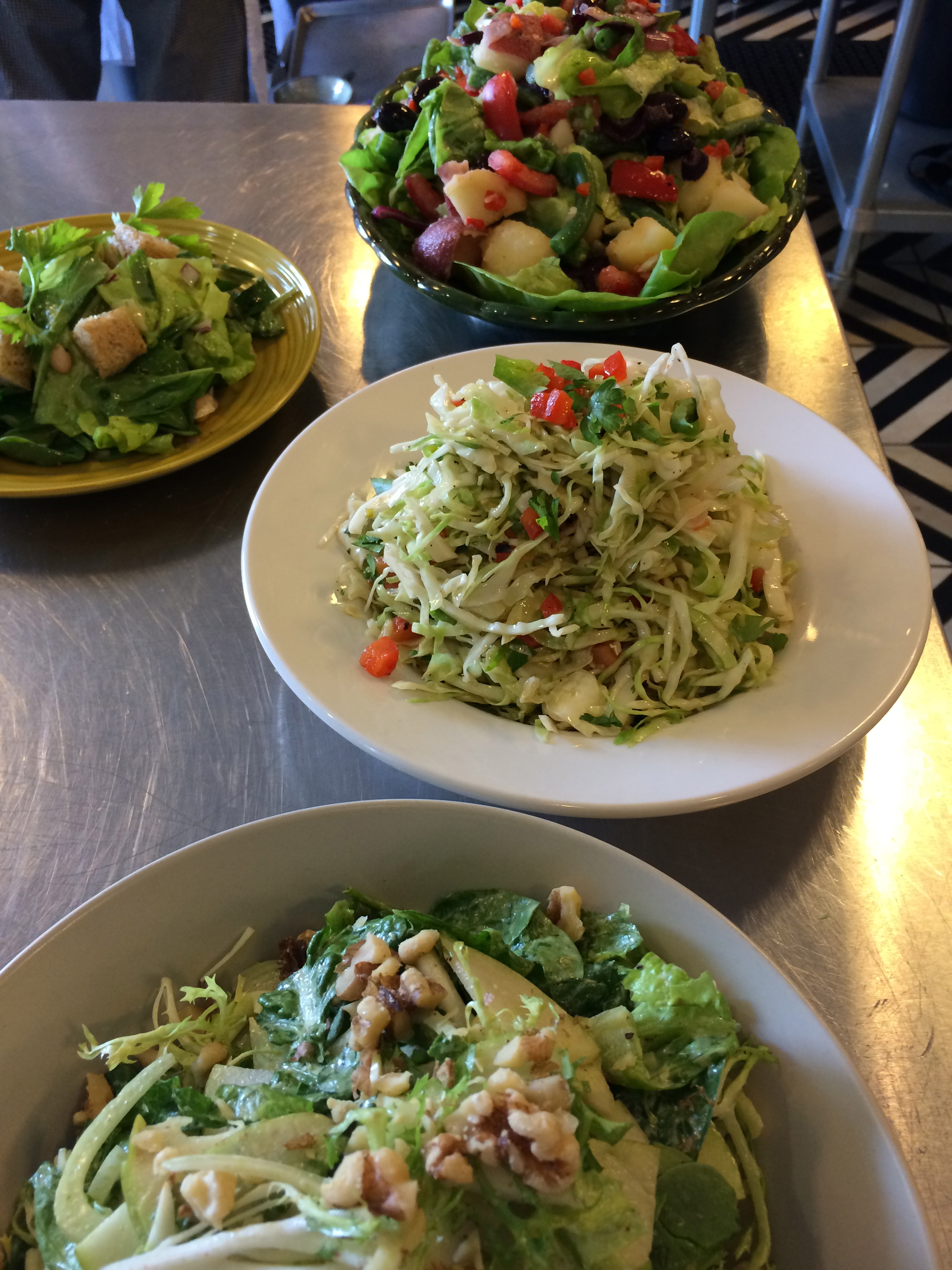 Salad day at school, coleslaw in the middle….
