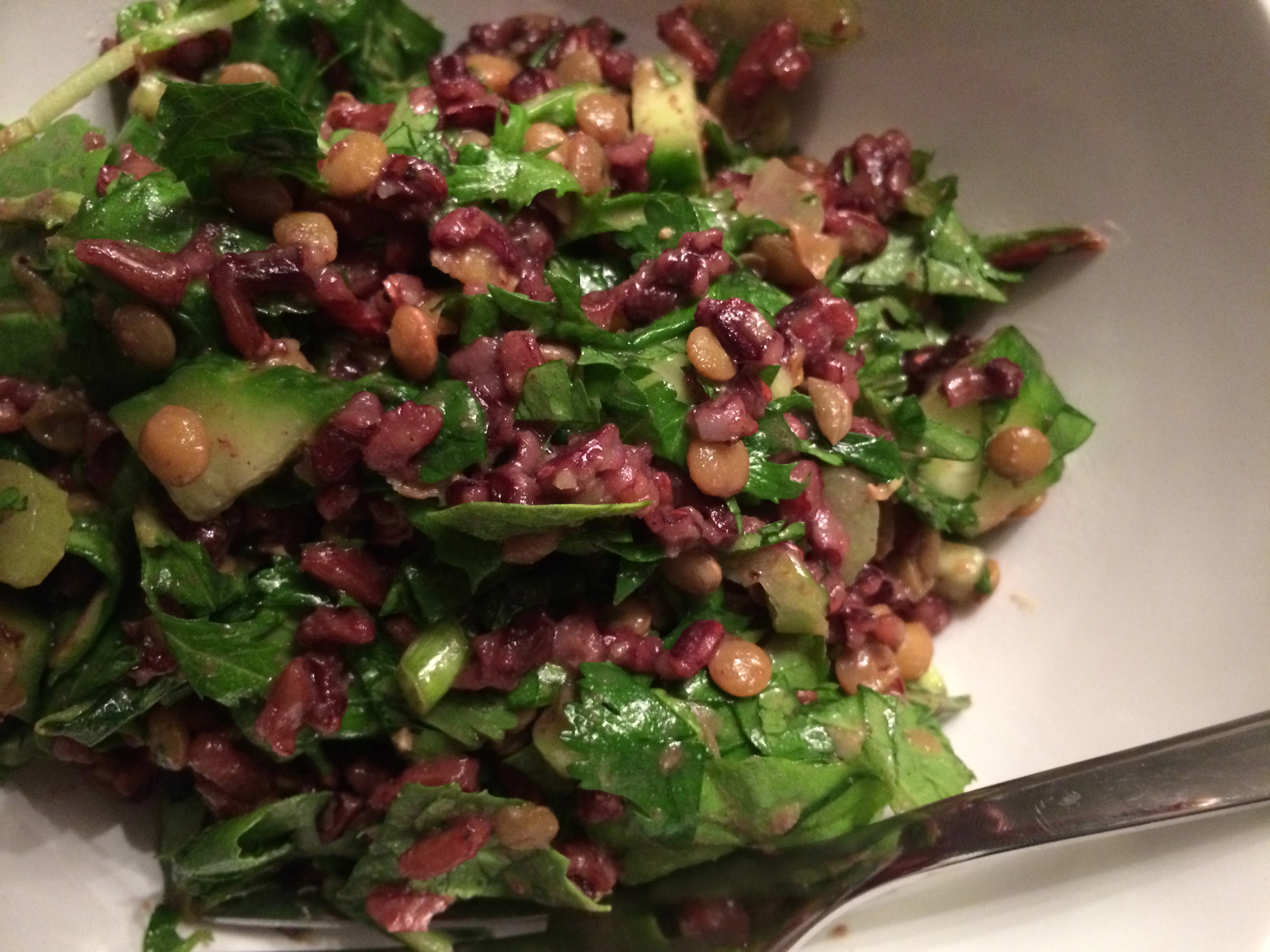Red Rice and Lentil Salad