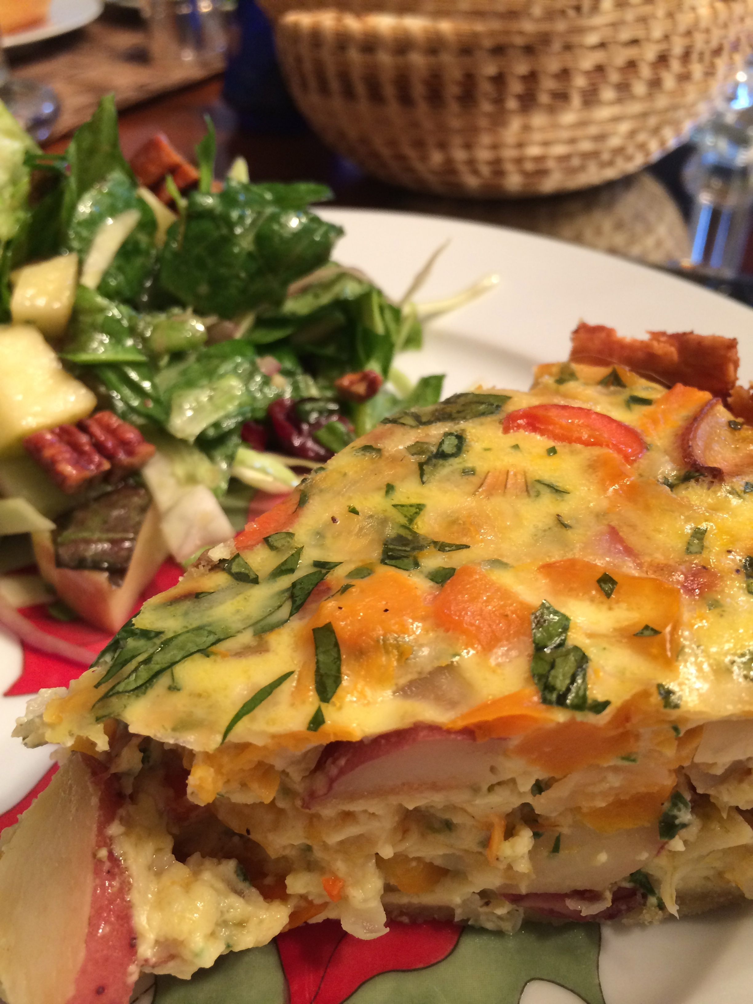 Deep Dish Roasted Vegetable Quiche