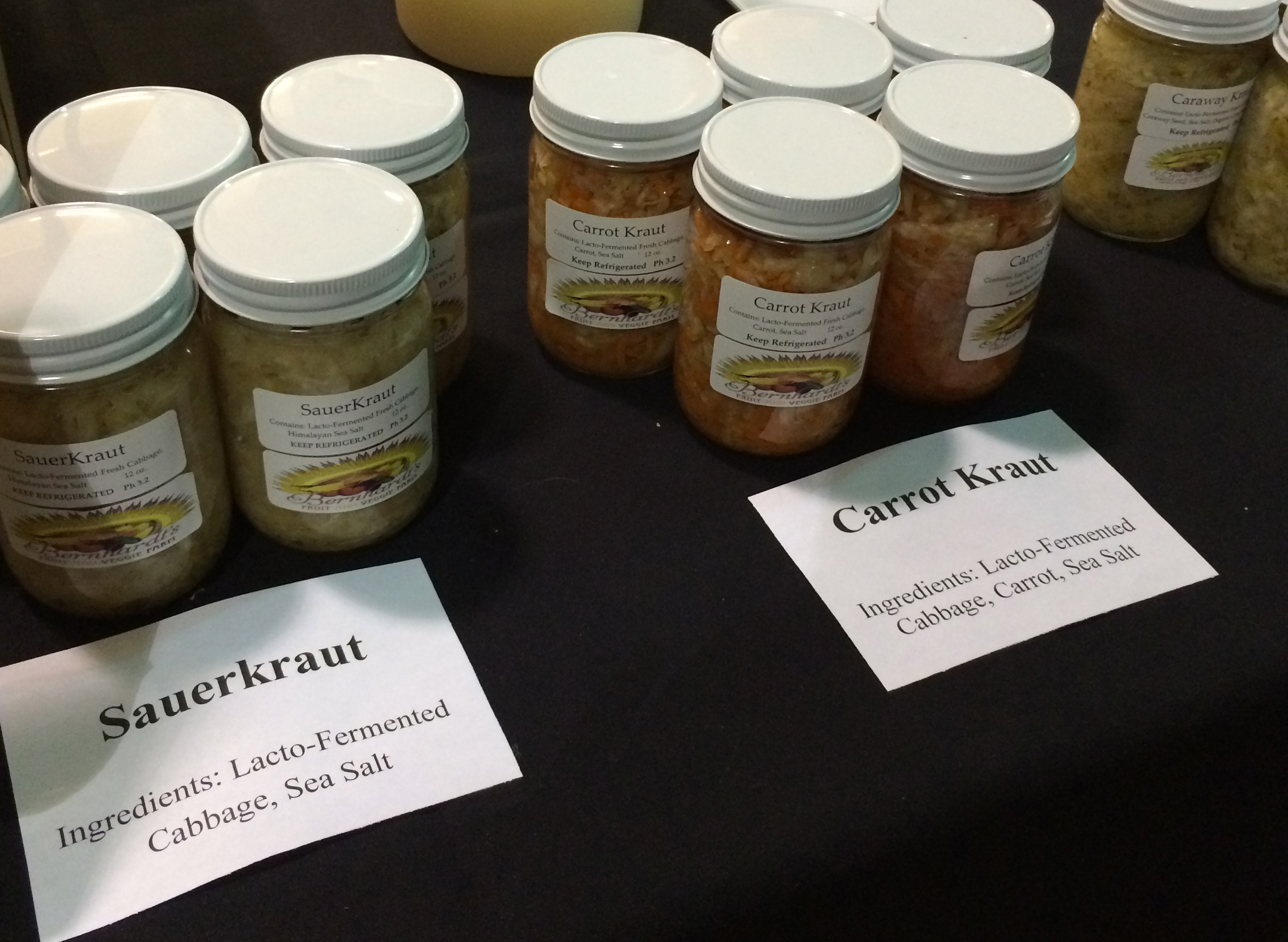 Fermented vegetables at the Austin Fermentation Festival