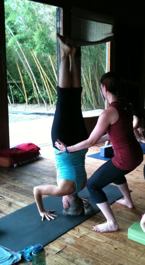 Tripod headstand at yoga teacher training!