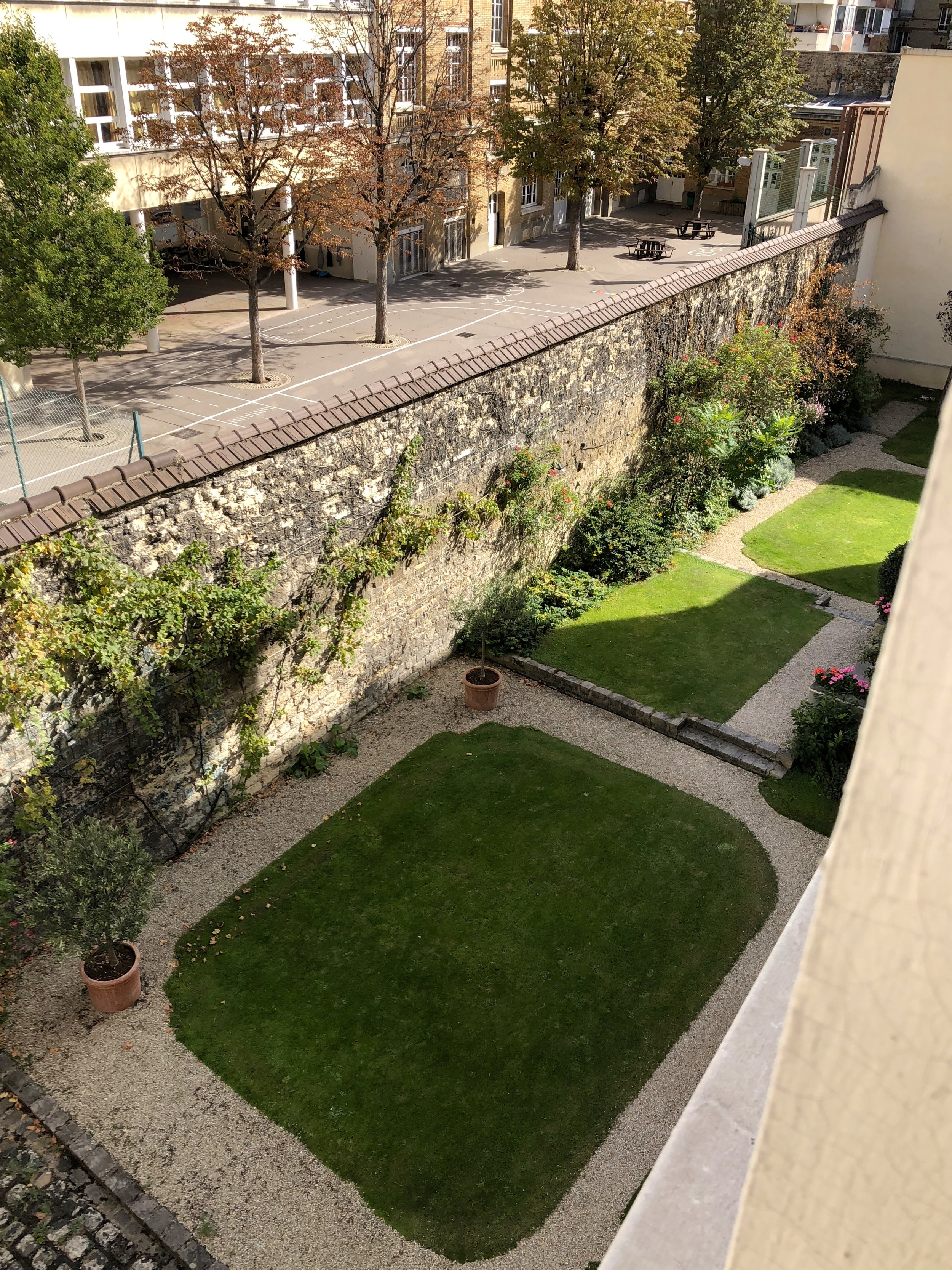 courtyard at the apartment