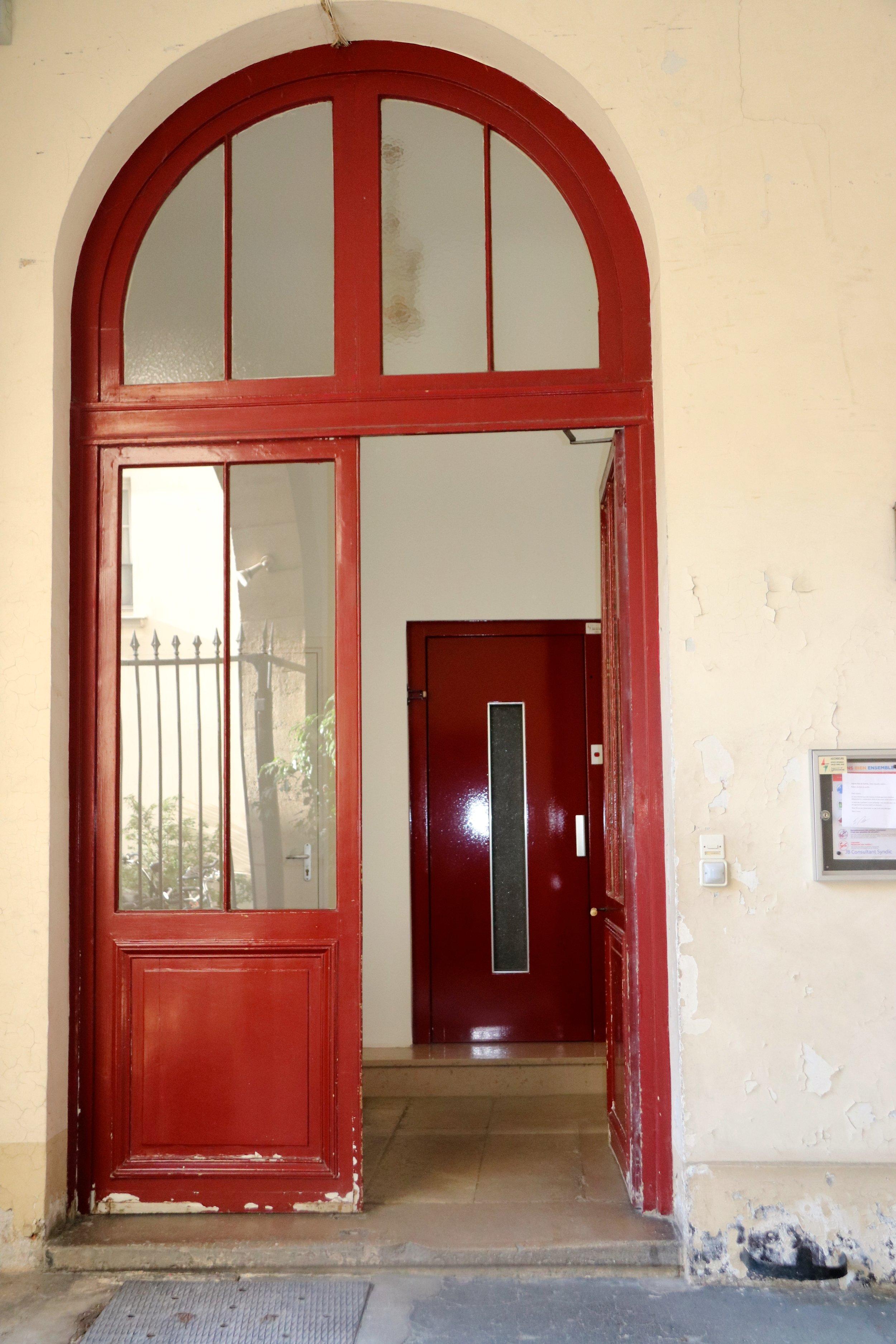 Door into the stairway