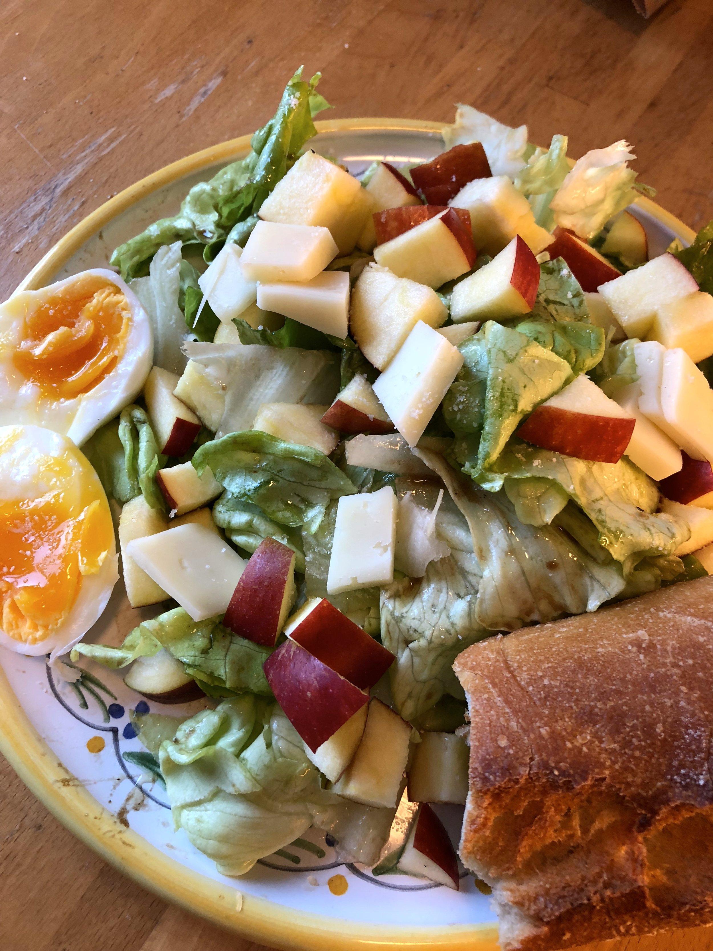 salad at home