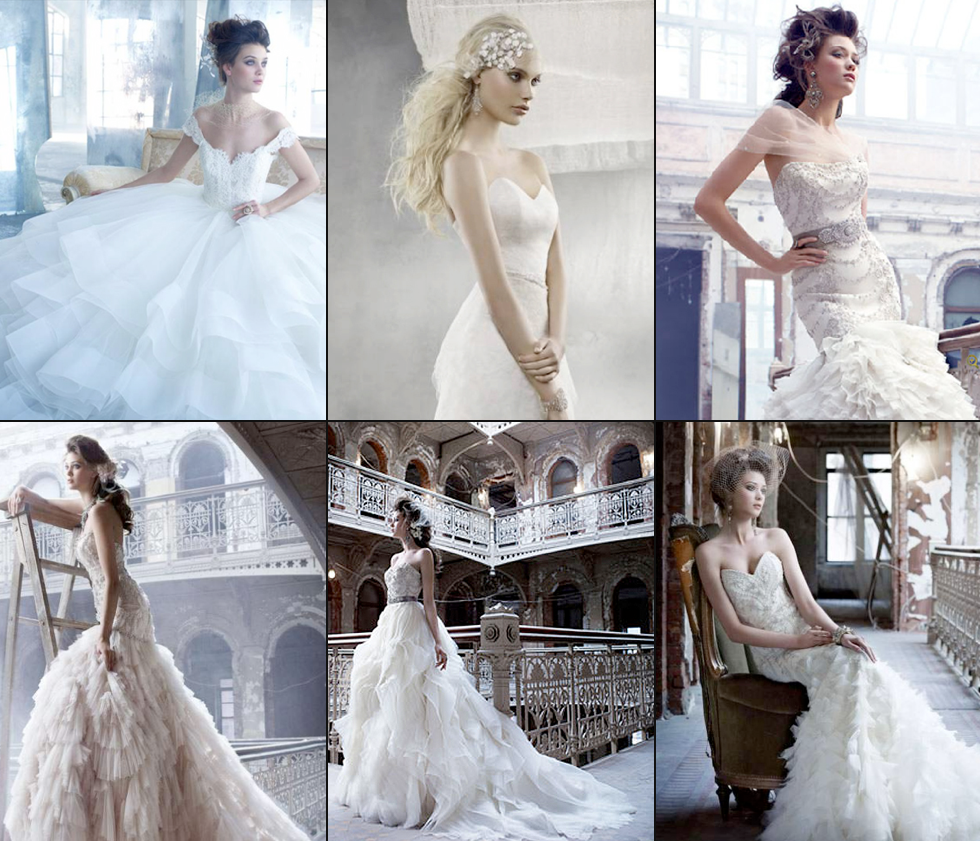 LAZARO Bridal ad campaign features Leah C. head wear.