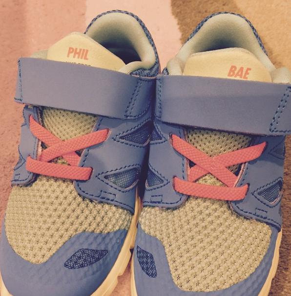 A pair of custom NikeiD for my Phil Bae