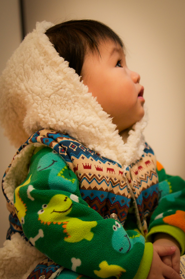 Phil in warm vest (Neo Factory) and a babyGap fleeced one-piece