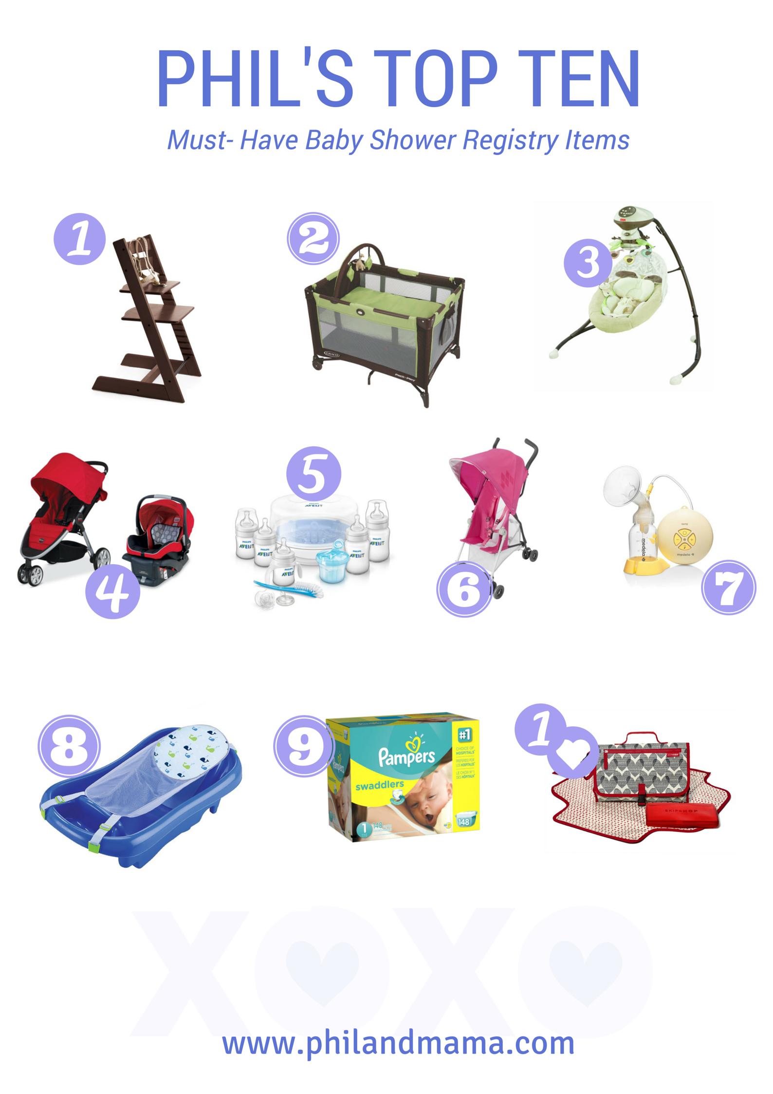 Baby Phil's top ten baby shower registry must-have list items