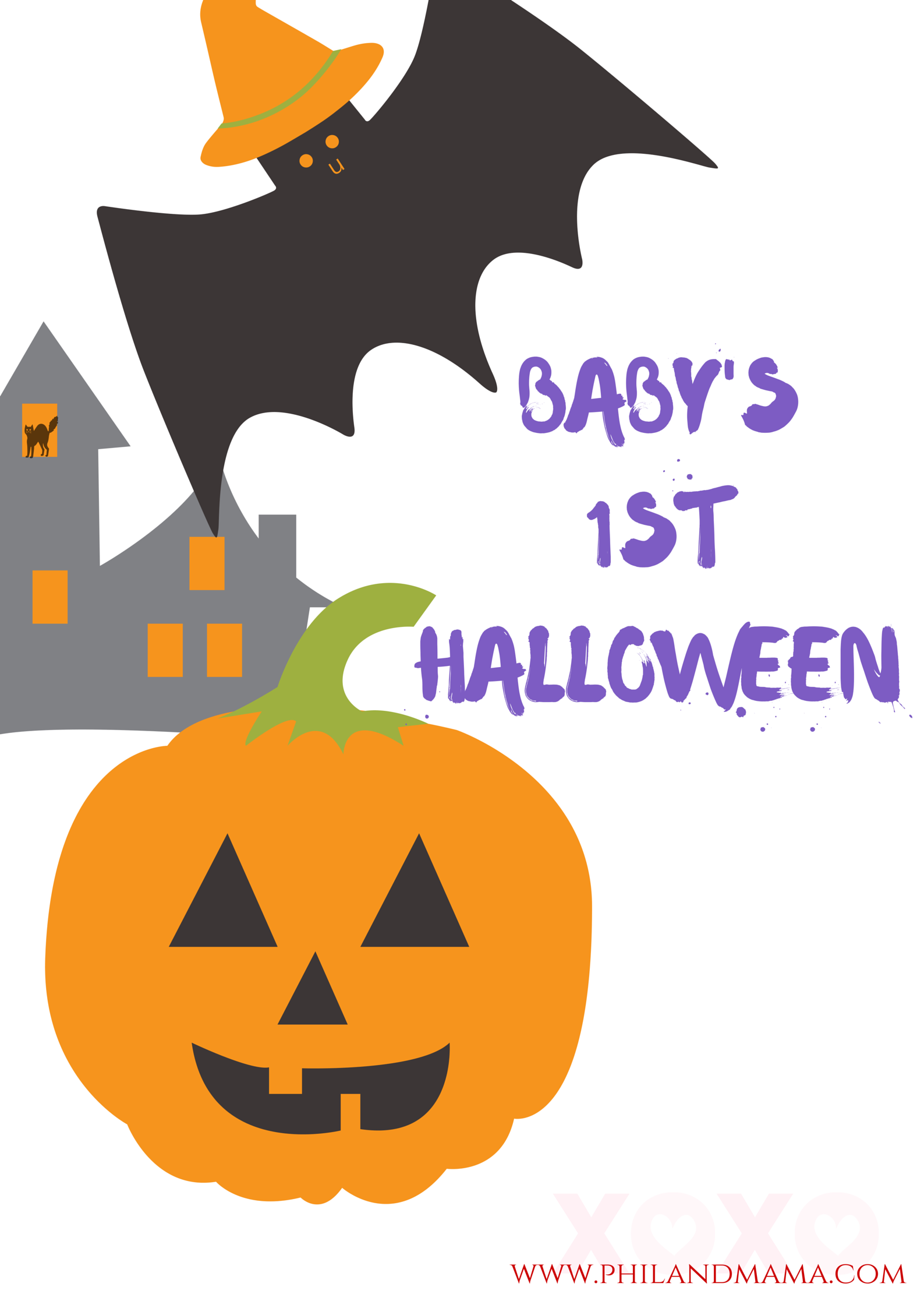 Baby's First Halloween Sign! Feel free to use! Download the Printable PDF from the link below.