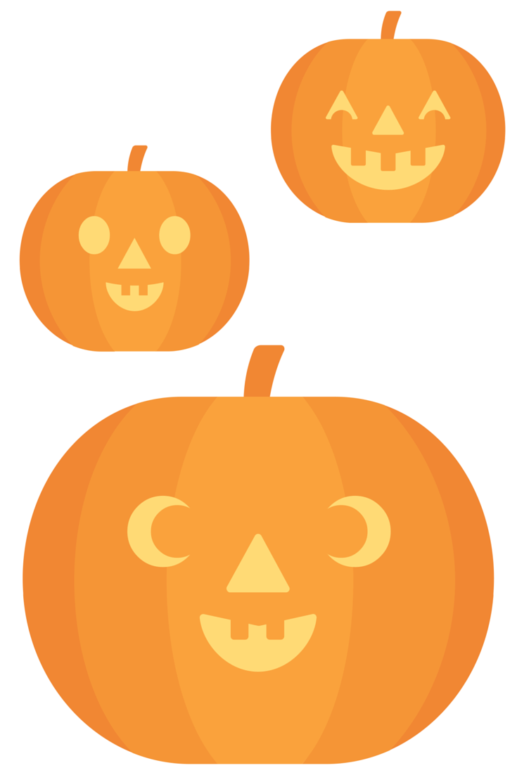 "cute pumpkins for decor, you can cut them out and lay them around the house during Halloween, or play ""find the pumpkins"" with your children"