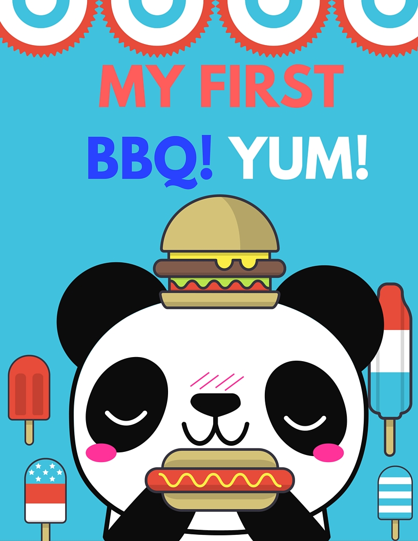 MY FIRST BARBEQUE FREE PRINTABLE MILESTONE CARD. RIGHT-CLICK to Save AS and Image, regular LEFT-CLICK for the PDF