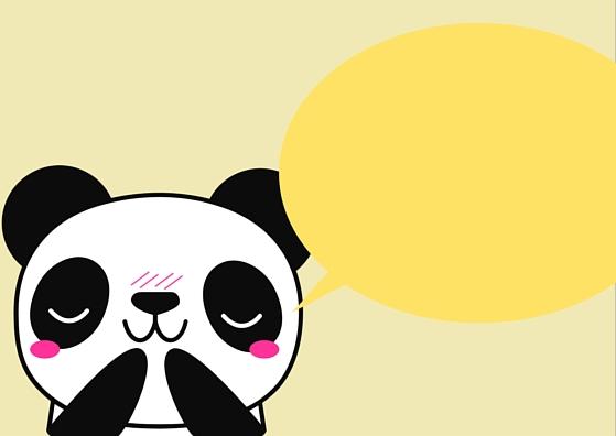 Blank Panda Template Lunch Box Note Card (Yellow)