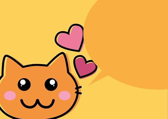 BLANK Neko Cat TEMPLATE LUNCH BOX NOTE CARD (Gold Orange)