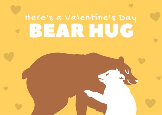 Here's a Valentine's Day Bear Hug