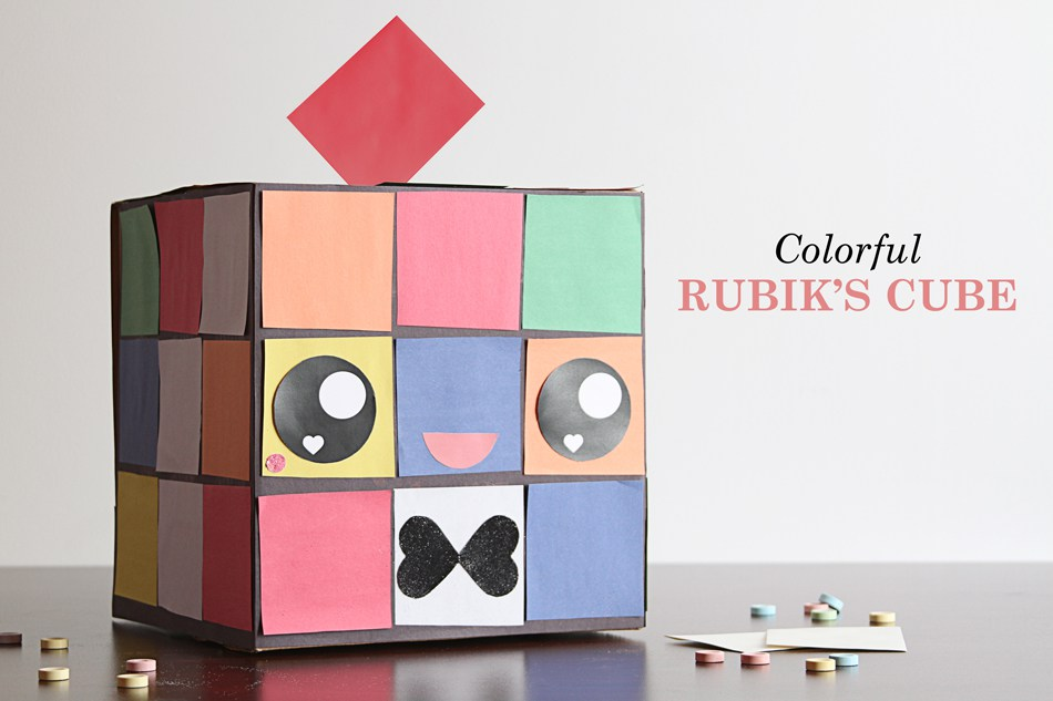 Colorful Rubiks Cube (Chick!)