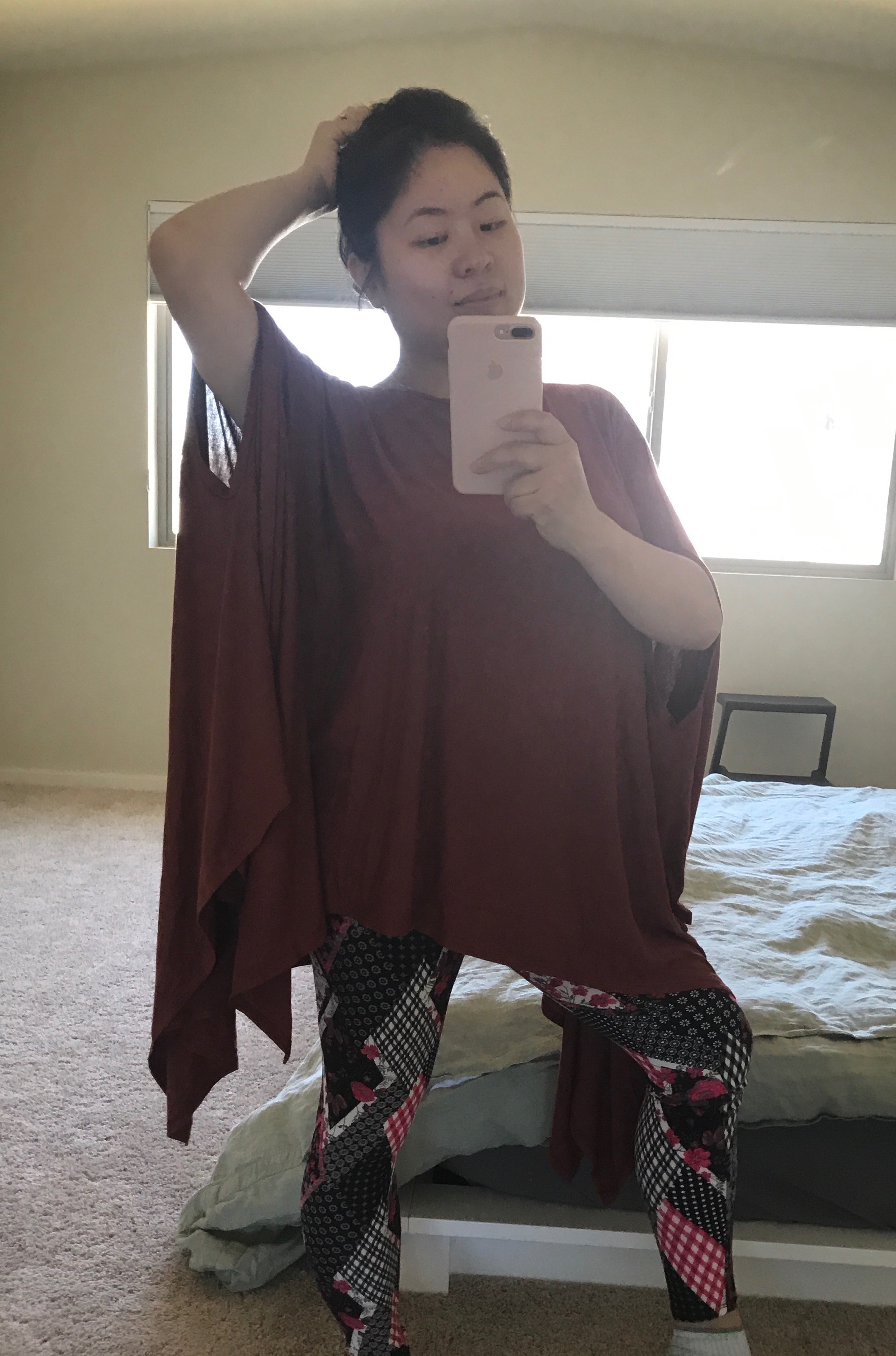 Kat Rockin'AJ - Thanks for stopping by, Vivian! The AJ clothes are super comfy and fashionable. People love the snazzy leggings you'd gifted me, and I could wear the pretty Seattle poncho I bought any day! This outfit really flatters my body type- Kat