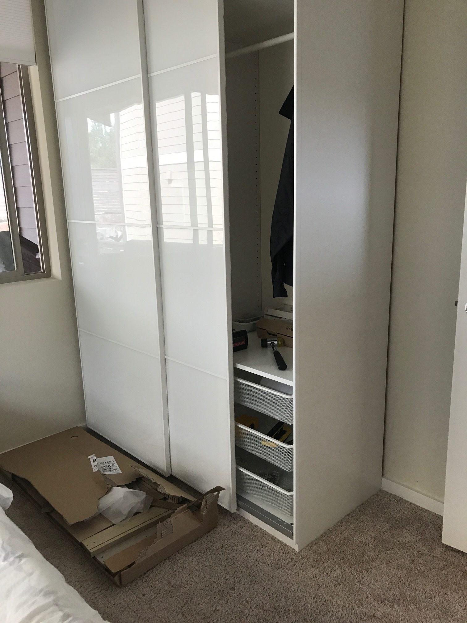 PAX pair of sliding doors $379, PAX wardrobe- $390