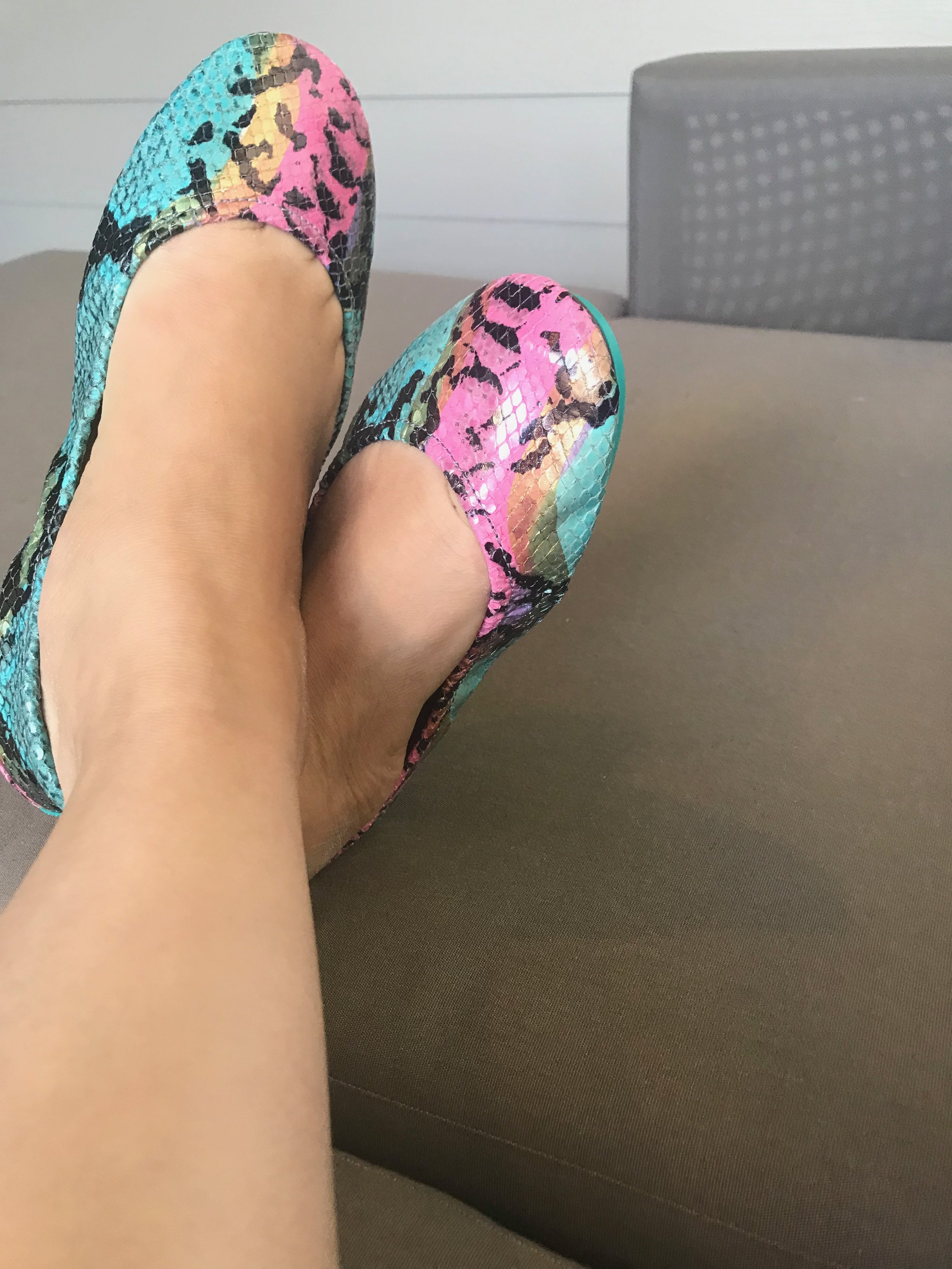 my Tieks Ballet Flats in Electric Snake