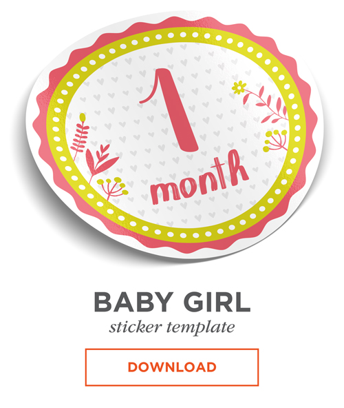 This is a photo of Free Printable Baby Month Signs throughout baby girl