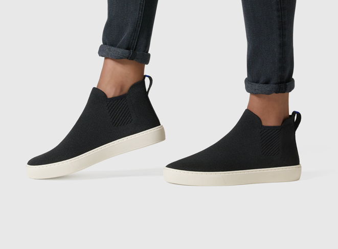 Here's the Chelsea Boots in Black (from rothys.com)