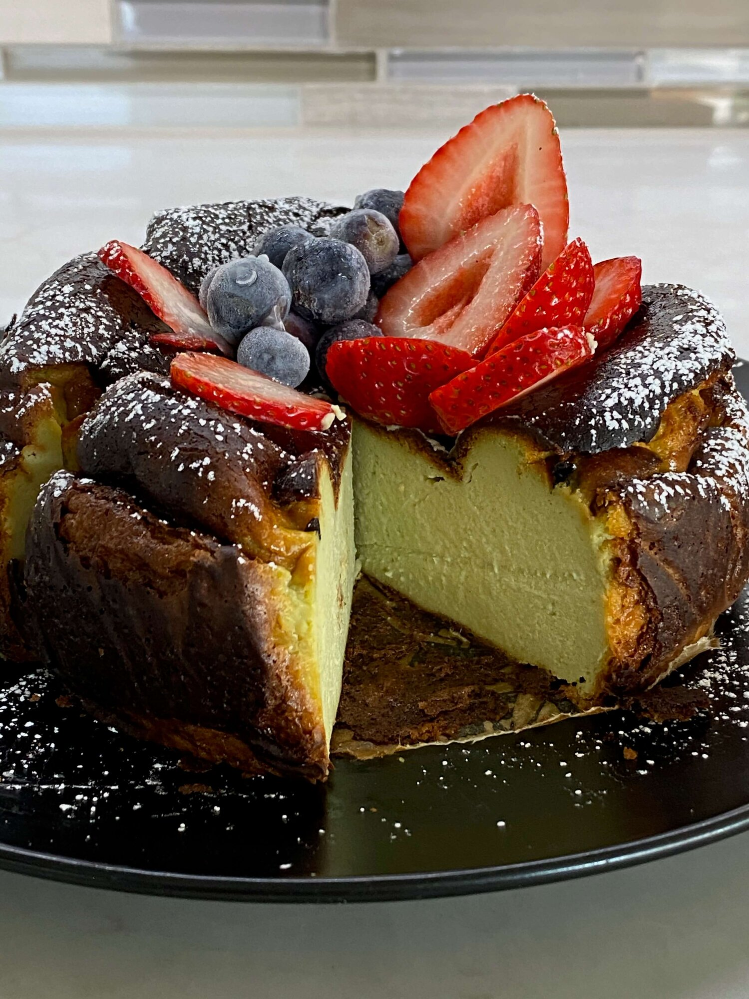 Matcha Basque Cheesecake Recipe Make A Matcha Green Tea Basque Burnt Cheesecake With Me It Ll Be Creamy Tall And Delicious Phil And Mama