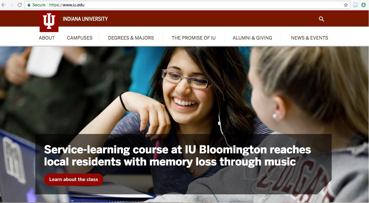 IU Homepage