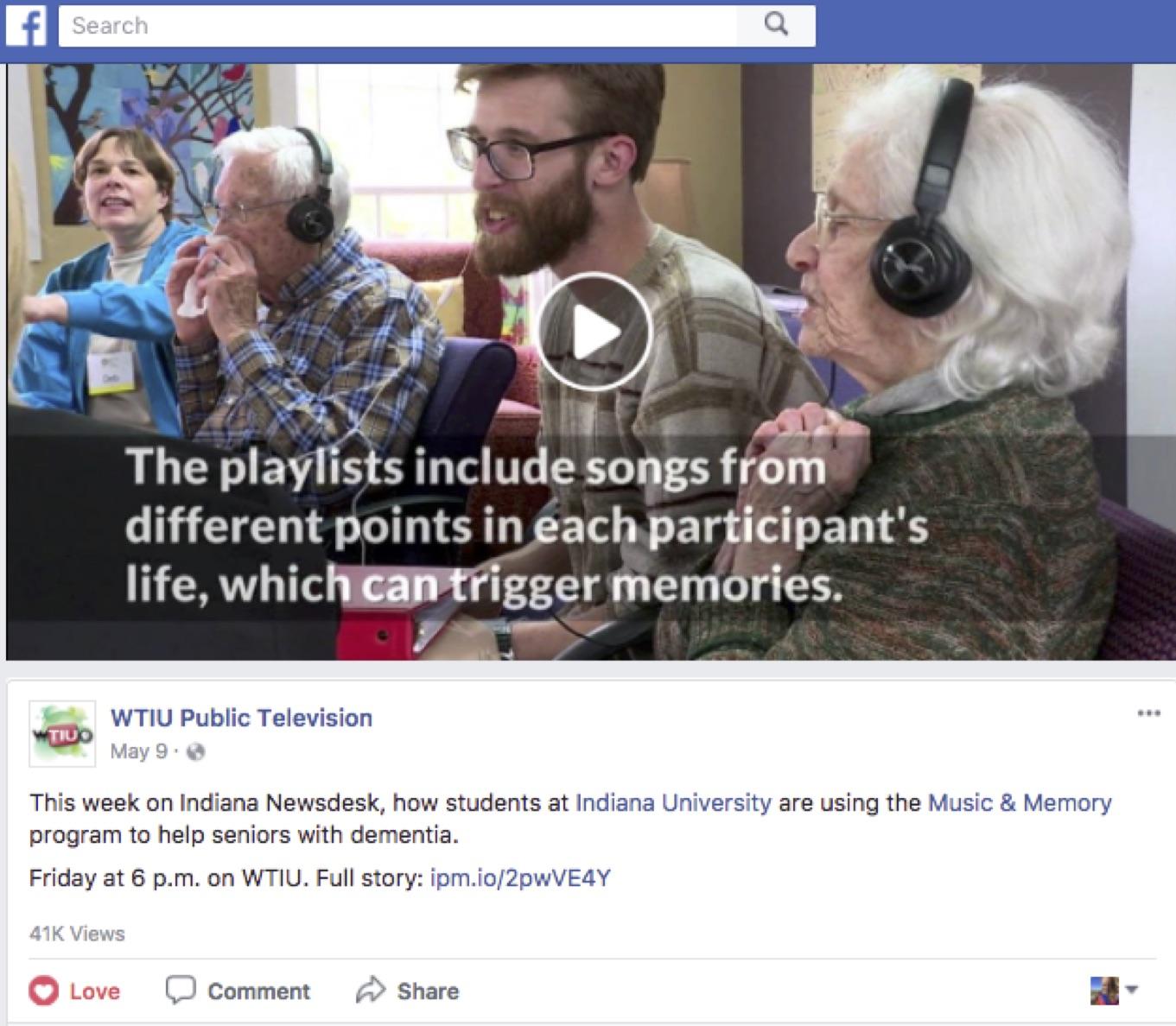 41,000 views on Facebook
