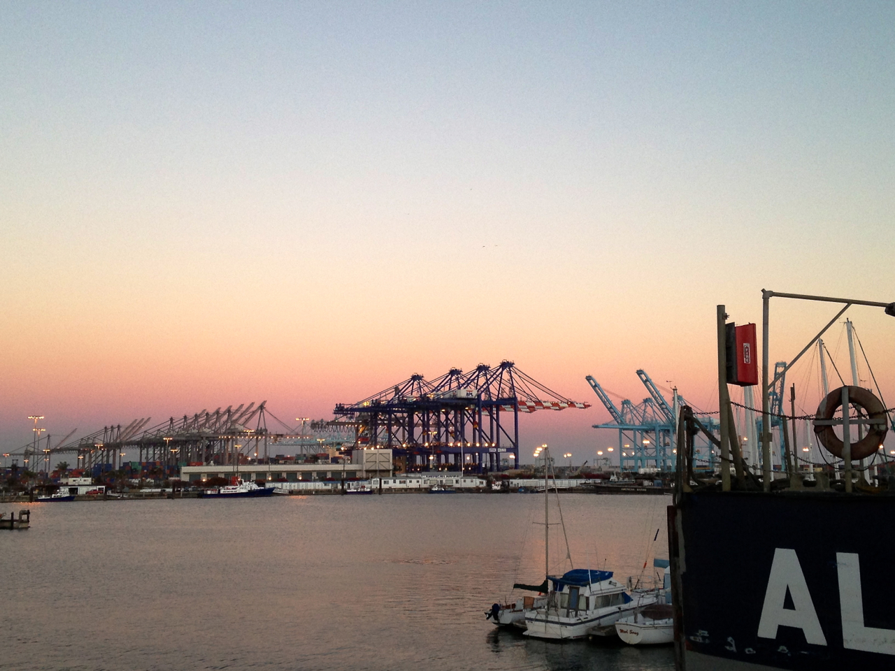 The view from Terminal Island, California.