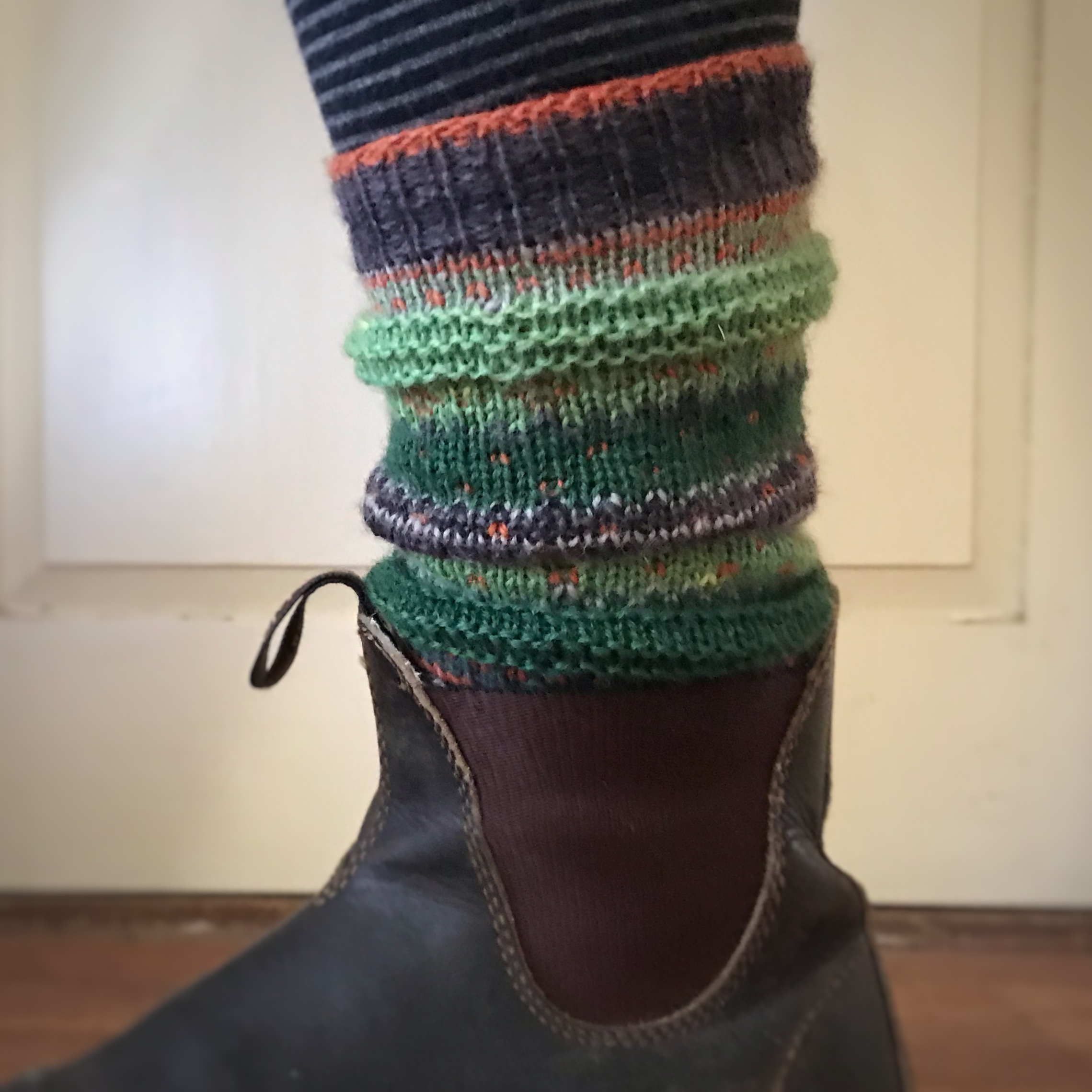 Toppers for Short Boots - Land colorway (these would also make good arm warmers).