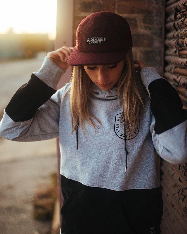 @laycirae wears our Rusk Hoodie • • • #troublenorth #local #premium #handmade #bespoke #fall #hoodie #lifestyle  #americanmade #streetwear #outerwear #adventuregear #wisconsin #midwest  #chicksthatshred #indybrand #clothingbrand #apparel #betterclothes #localbrand #follownone