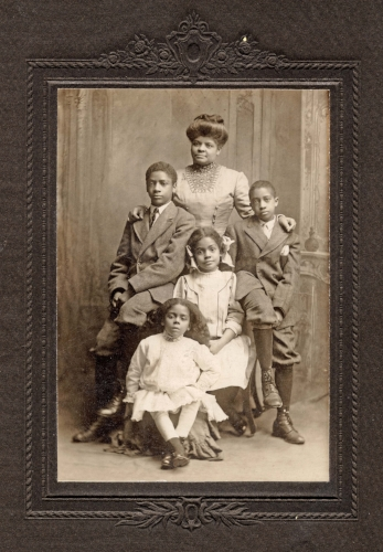 Ida B. Wells-Barnett with her four children.