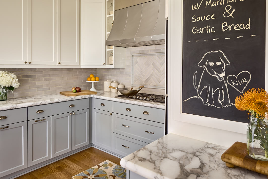 Transitional kitchen in Cole Valley neighborhood of San Francisco, CA.  Photographed by Dean Birinyi, interior photographer in San Francisco, CA.