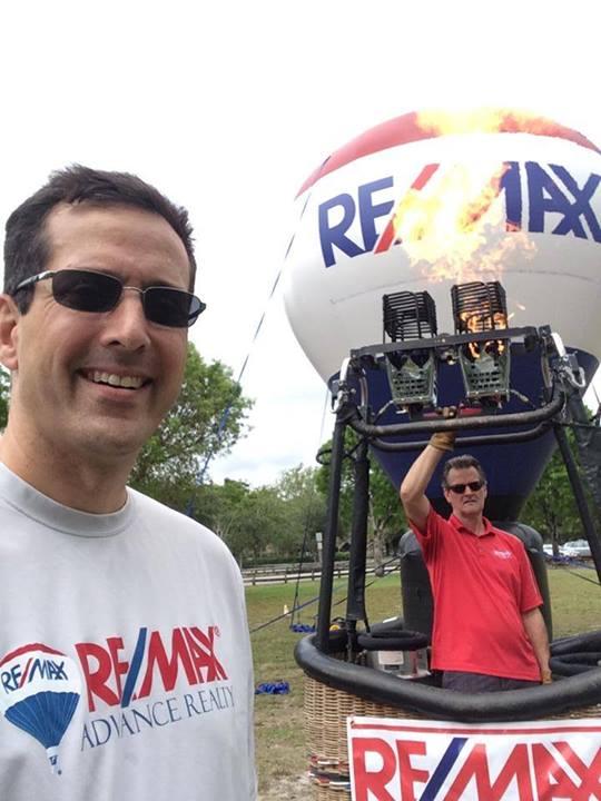 Hal gets to meet the RE/MAX Hot Air Balloon Team