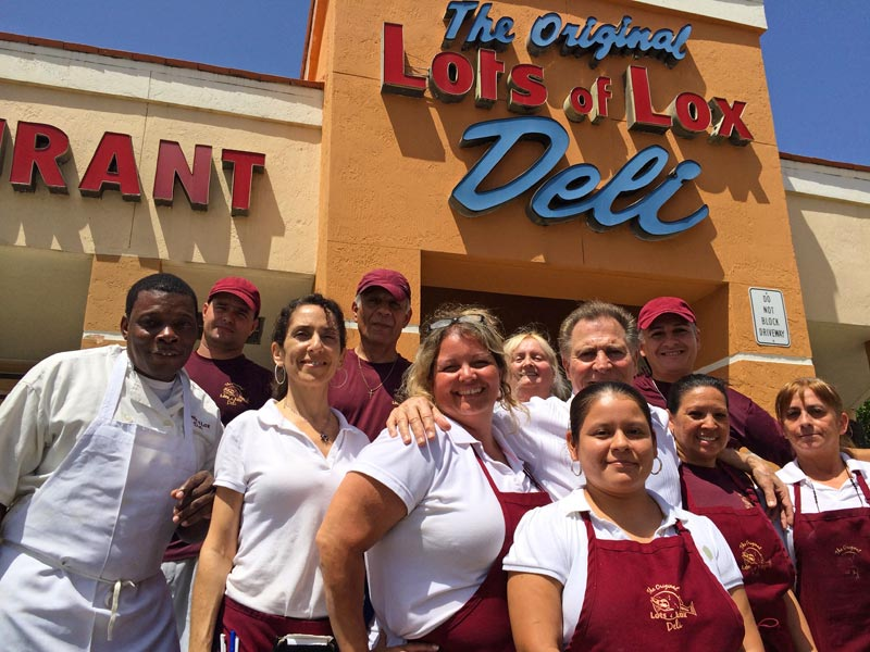 Some of the Lots of Lox staff [L-R] Gerard Francois, Amaury Hernandez, Orly Cooley, Marcelo Farina, Laurie King, Charlene Rosa, Maria Lau, Jimmy Poulos, Angel Salazar, Celine Fernandez and Mona Urrea.