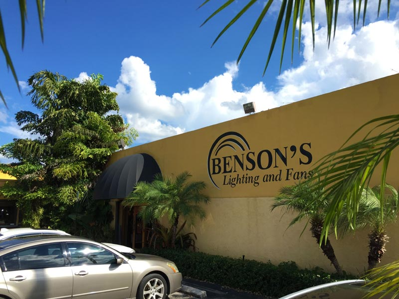 Benson's Lighting at the same location since 1963