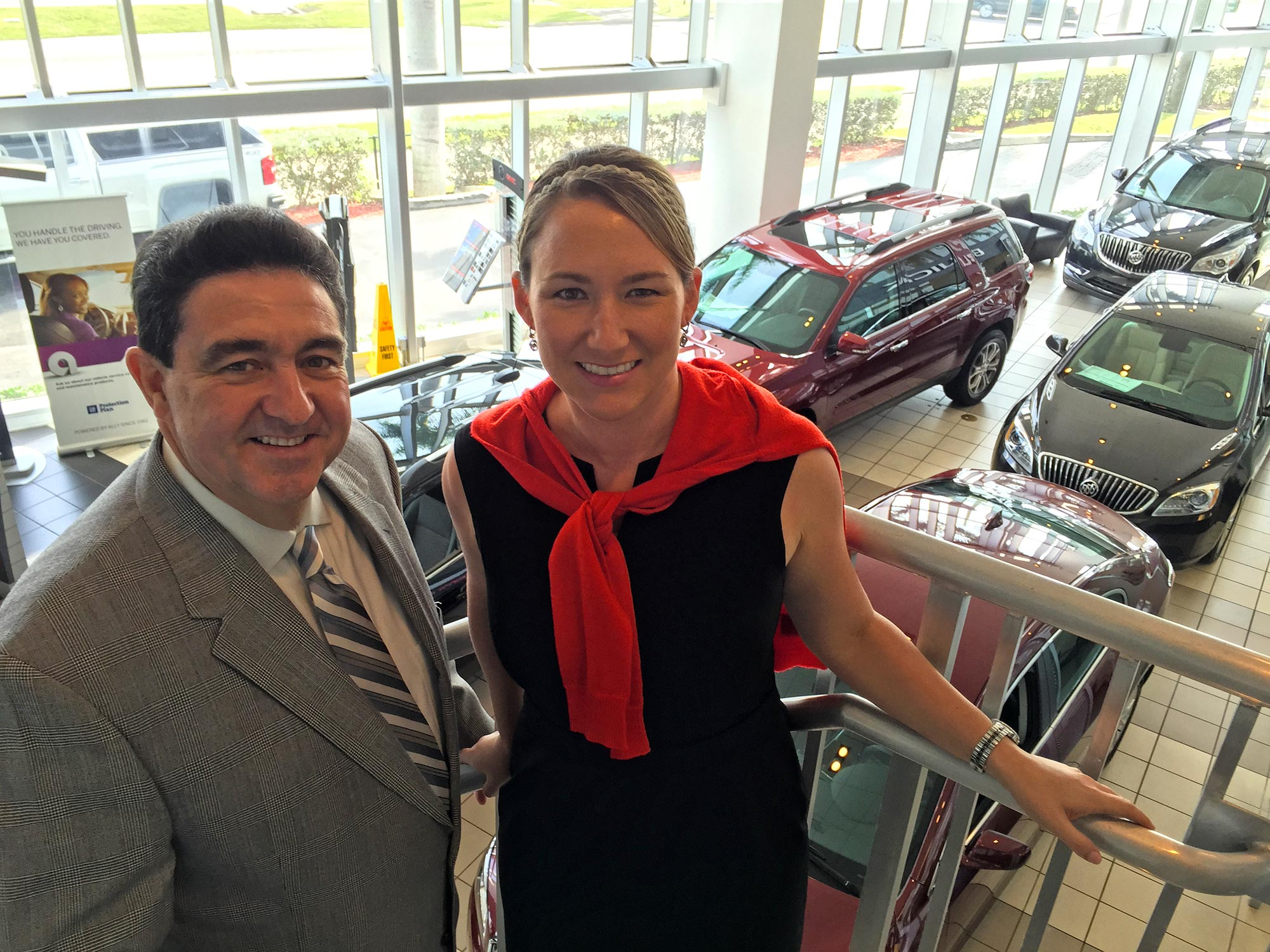 Williamson showroom being used for fundraiser with GSM Benito Ledesma, Jr. and Marketing Director Jennifer Naszradi