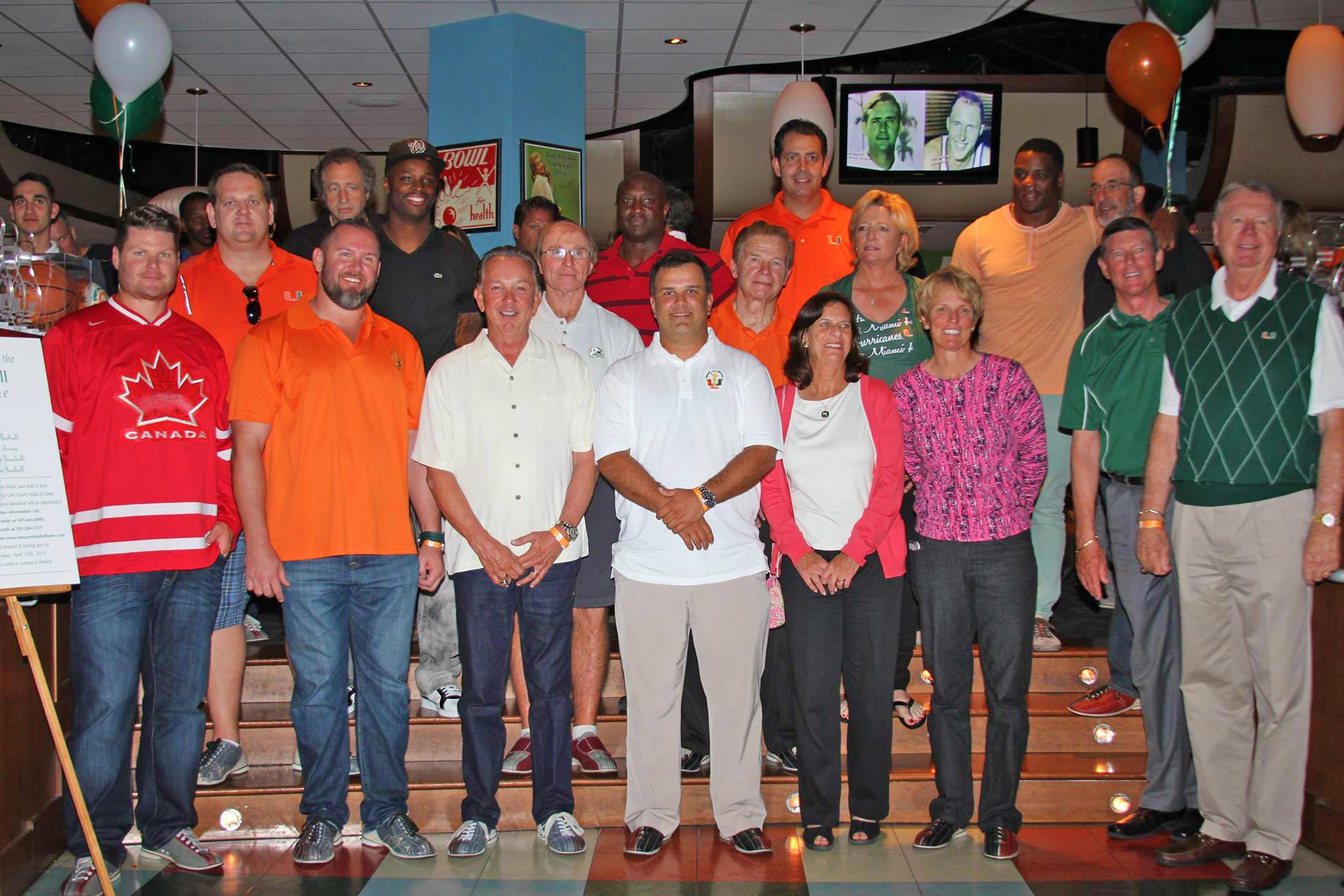 Last year, there were 18 Canes All-Stars on hand to bowl and raise money.