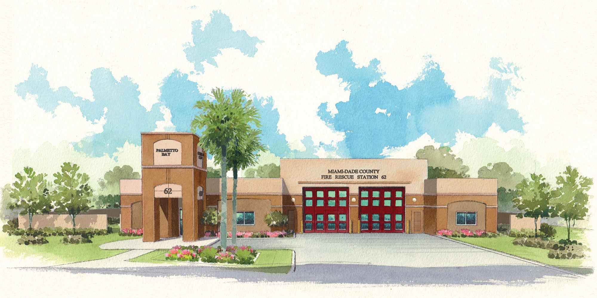 Current rendering of the fire rescue station