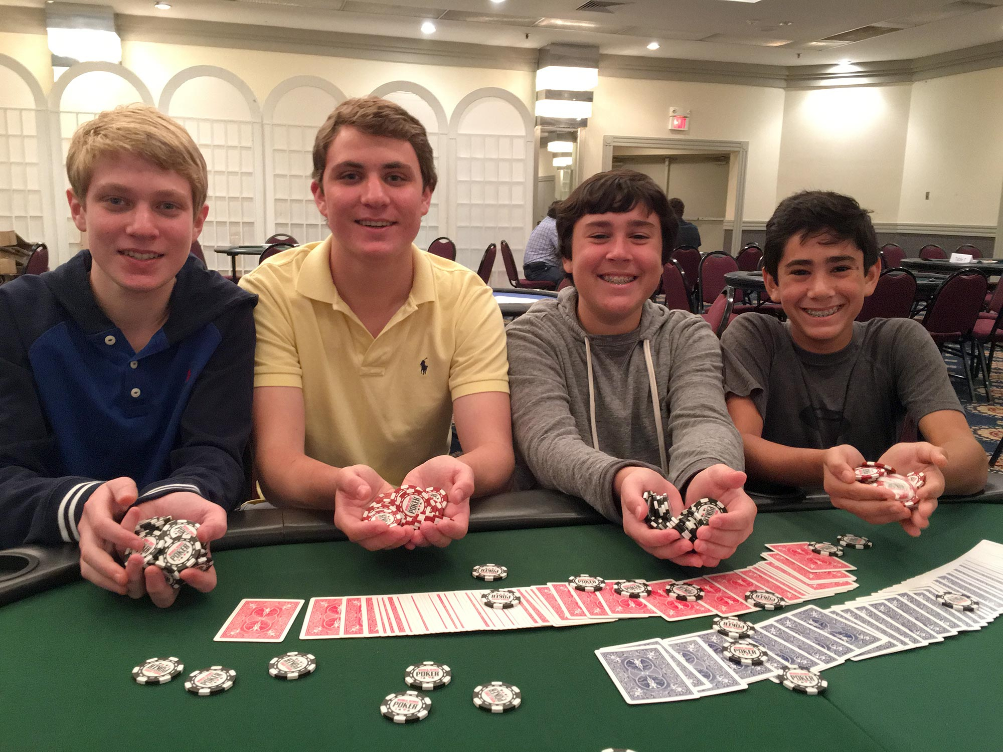 Jay & Brian Morrison with Max & Jesse Lehman at last year's tournament
